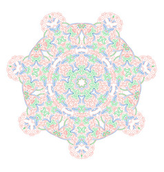 mandala of graceful curved lines folk motives of vector image