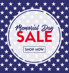 memorial day sale banner template for social media vector image