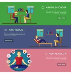 Mental disorder psychological treatment vector image