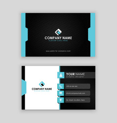modern professional business card template latest vector image