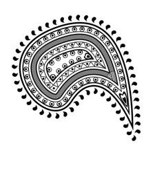 paisley decorative element vector image