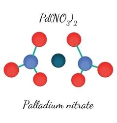 Palladium nitrate PdN2O6 molecule vector image