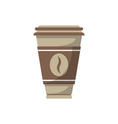 paper coffee cup isolated icon in flat style vector image