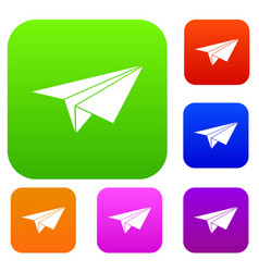 paper plane set collection vector image