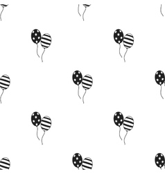 Patriotic balloons icon in black style isolated on vector