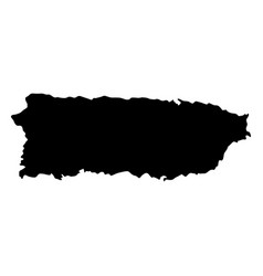 puerto rico island map silhouette vector image