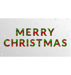 Red green merry christmas greeting card vector