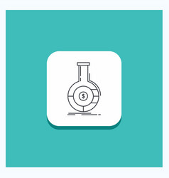 round button for analysis analytics banking vector image