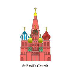 Saint basils cathedral icon vector