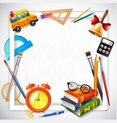 school realistic frame vector image