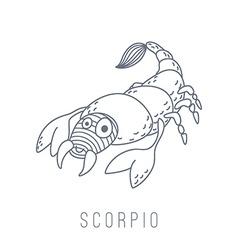 Scorpion scorpio vector