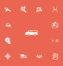 Set of 13 editable complicated icons includes vector