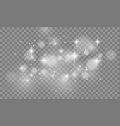set of glow light effect isolated on transparent vector image