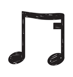 sketch of a musical note vector image