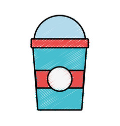 smoothie cup icon vector image