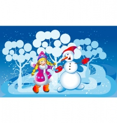 Snowball and the snow maiden vector