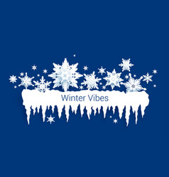 snowflakes and icicles border vector image