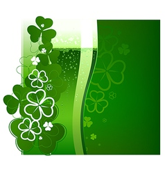 St Patricks Day green beer vector image