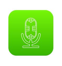 studio microphone icon green vector image