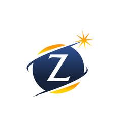 Swoosh logo letter z vector