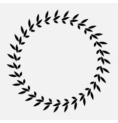 Tattoo of laurel wreath Black abstract ornament vector