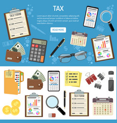 tax and business accounting infographics vector image