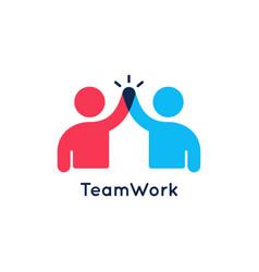 Teamwork concept logo team work icon on white vector