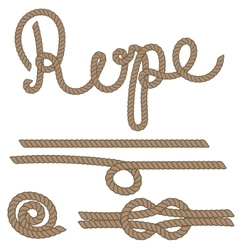 Twine rope knot brush brown pattern string vector