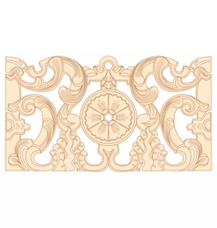 Vintage baroque geometry floral ornament vector