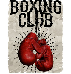 Vintage boxing gloves template for print t-shirt vector