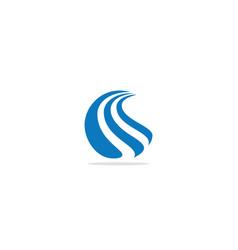 wave abstract logo vector image