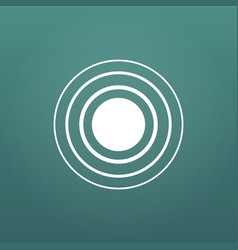 White concentric rings epicenter theme simple vector
