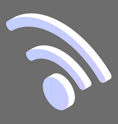 wifi logotype wireless communication web vector image
