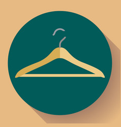 wooden coat hanger clothes hanger icon vector image
