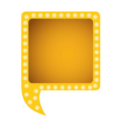 Yellow square chat bubble vector