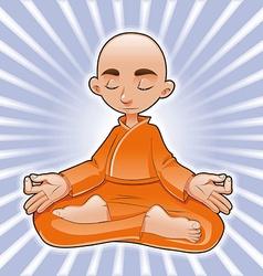 Yoga Lotus vector image vector image