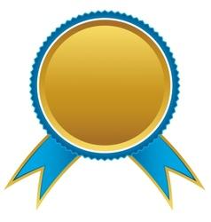 Blue and gold ribbons award vector image