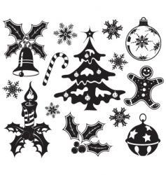 Christmas design element set vector image vector image