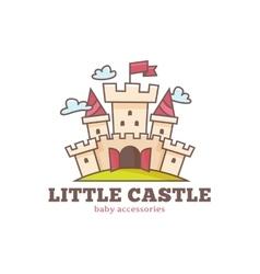Cute little castle logo for baby shop kids vector