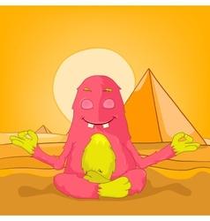 Egypt Funny Monster vector image