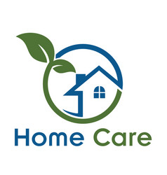 home care logo vector image vector image