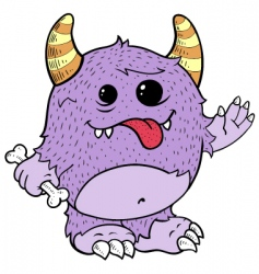 purple monster vector image