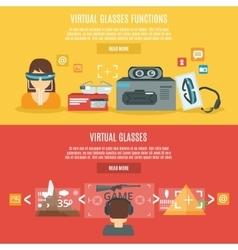 Virtual glasses banner vector