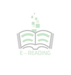 e-reading logo vector image