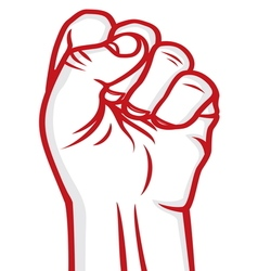fist red vector image