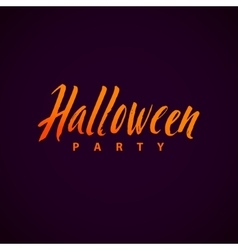 Halloween Party Background with Hand vector image