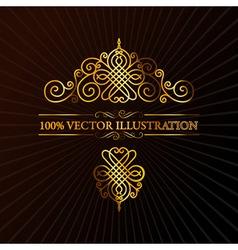 retro ornament calligraphic vector elements vector image vector image