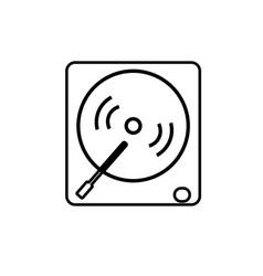 vinyl player icon vector image vector image