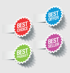 best choice tags vector image vector image
