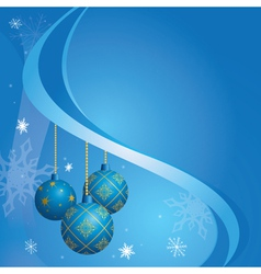 blue card for christmas holidays vector image